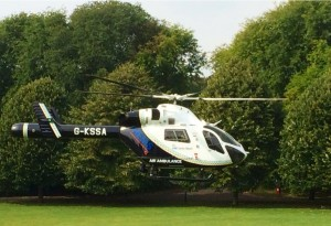 The air ambulance taking off from Hove Park. Picture by PC John Winter
