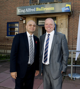 Sajid Javid with Hove Conservative candidate Graham Cox during the general election campaign