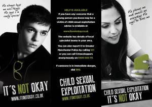 Police forces have tried to raise awareness of child sexual exploitation