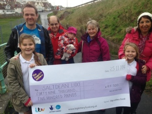 Saltdean Lido People's Millions cheque