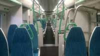 Inside one of the Thameslink trains