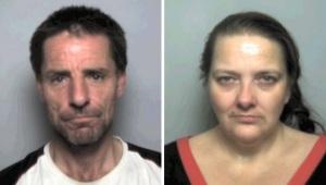 Jailed Gordon Lecheminant and Nicole Boarer
