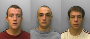 Jailed John Dykes, Shawn Dempsey and Tyler Boarer