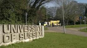 Sussex University entrance sign