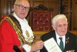 Councillor Brian Fitch and Bernie Jordan