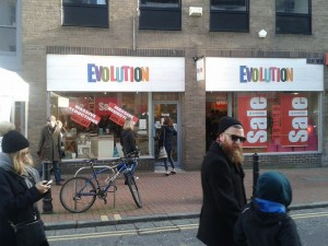 Evolution's closing down sale. Picture by Matthew Bright