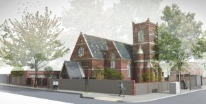 An artist's impression of the Holy Trinity conversion