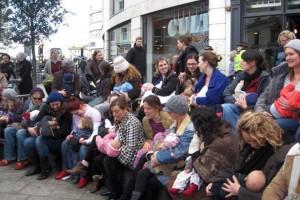 A breastfeeding flashmob at the Clocktower in 2011