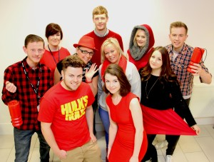 D&G staff support BHF's Wear it, beat it campaign