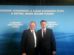 Graham Cox and David Cameron