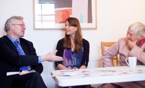 Laura Marshall-Andrews with Nigel Crisp and Shirley Williams - Picture by Natasha Bidgood