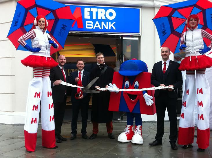 The opening of Metro Bank in Brighton with, from left, Kevin Walker, Brian Quinton, Councillor Jason Kitcat and Nick Simon