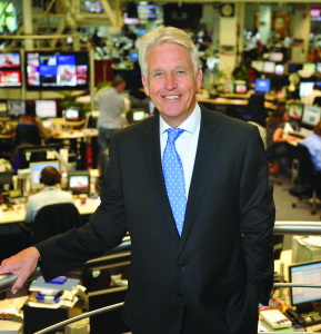 Nicholas Owen in BBC Newsroom shot
