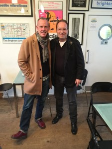 Peter James and Norman Cook