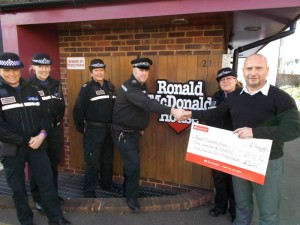 Sussex Police - Ronald McDonald House doation 201502