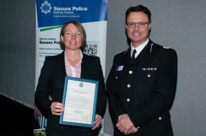 DC Tracey Dixon with Assistant Chief Constable Robin Smith