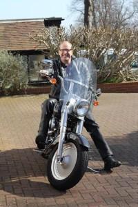Bishop Richard Jackson on his Harley Davidson
