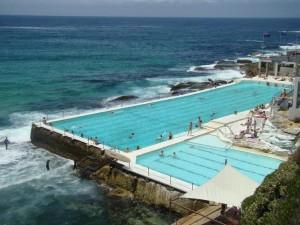 A pool built at Bondi Beach in Australia by the same developer