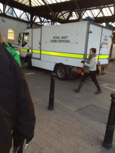 Brighton Station bomb square by Daz Paine on Twitter