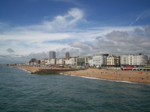 Brighton seafront. Picture taken from Wikimedia Commons.
