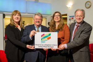 Martlets CEO Imelda Glackin, Councillor Bill Randall, Chamber president Julia Chanteray and Martlets fundraising director Robert Griffiths - Picture by Simon Callaghan