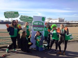 Mayo Wynne Baxter staff collected money for charity while collecting litter from the beach