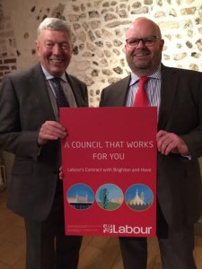 Former Home Secretary Alan Johnson joined Councillor Warren Morgan when Labour's local manifesto was published in March