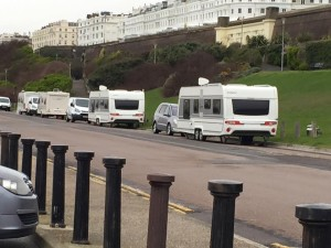 The travellers at Black Rock this morning