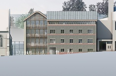 An artist's impression of the proposed classroom block at Brighton College