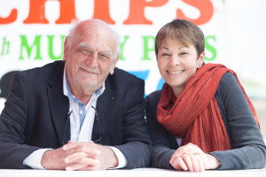 Dick Knight gives his support to Caroline Lucas