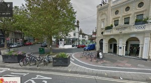 """The area to be transformed into a """"pocket square"""" outside the Duke of York's Picturehouse"""