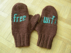 Free wifi mittens by Dory Kornfeld on Flickr
