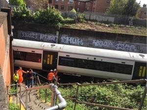 Stranded Clapham Junction train. Picture by PC Ben Perkins