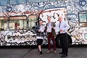 Brighton and Hove Buses, Bus Installation, graffiti, 2015, brighton,