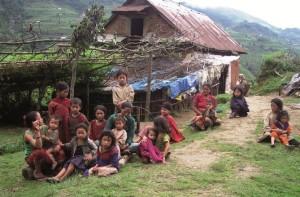 Children in Malagiri in Nepal