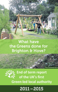 Green Party end of term report
