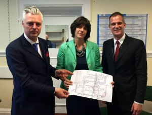Peter Kyle, Simon Kirby and Claire Perry