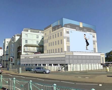 Brighton And Hove News 187 Scaffold Advertising Plans For