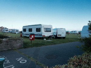 Travellers on Hove Lawns early on Wednesday evening (29 April)