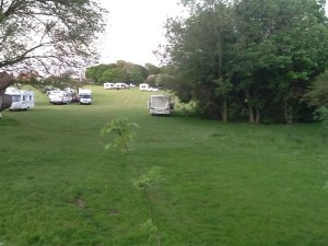 The travellers camp in Woodingdean yesterday, Picture by Ch Insp Nev Kemp/Sussex Police