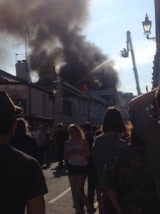 Fire and smoke at the Argus Lofts in Brighton