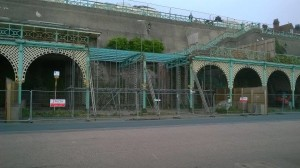 Madeira terraces fenced off