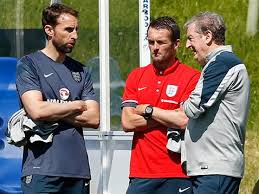 Nathan Jones with Gareth Southgate, left, and Roy Hodgson, right - Picture by Action Images