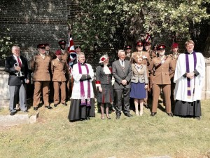 The 200th anniversary of the victory at Waterloo was commemorated by the Hove tomb of a veteran of the battle