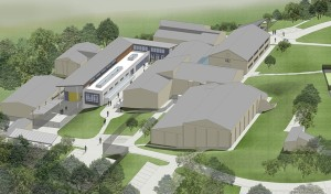 An artist's impression of the City College East construction trades centre