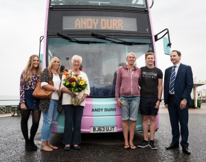 The Durr family with the Brighton Beach Bus. Picture by jimpix.com