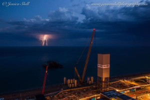 Lightning strikes during Monday's storm by Jessi Shell