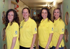The Active LightWorks reiki therapy team whose work at the Royal Alexandra Children's Hospital in Brighton is funded by the Rockinghorse children's charity