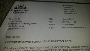 St Martin's School letter address block and title
