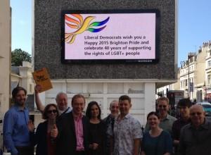 Tim Farron with Brighton and Hove Lib Dems